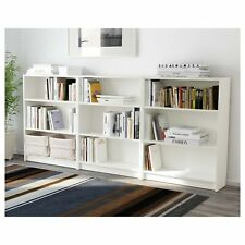 Adjustable 3 Shelf Bookcase Storage Book Bookshelf Shelving Set of 3