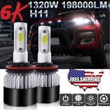 H8/H9/H11 LED Headlight Bulbs High Beam Kit for Nissan Altima Sentra Leaf Maxima