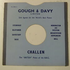 """78rpm 10"""" card gramophone record sleeve / cover GOUGH & DAVY , HULL"""