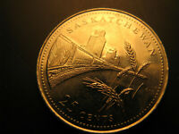 Canada 1992 Saskatchewan Province Commemorative 25 Cent Mint Coin.