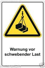 Schild Warnung vor schwebender Last Werksgelände Warnhinweis  Betriebsgelände