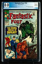 FANTASTIC FOUR #58 PGX 8.0 VF Very Fine Dr. DOOM cover!!! + CGC!!!