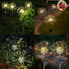 120LED Solar Power Flower Light Firework Lamp Garden String Plant Pathway Lights