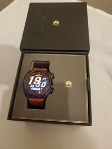 HUAWEI WATCH GT B19 46mm Grey Stainless Steel Orange Strap Excellent condition