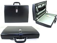 New Deluxe Faux Leather Grain Executive Attache Case Briefcase Office Flight Bag