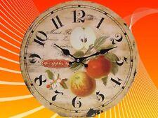 Wanduhr Küchenuhr Äpfel 34 cm Trend Dekoration Vintage Geschenk Weihnachten