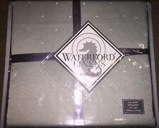 """*New* Waterford Linens Brunswick Light Green Cal King Bedskirt 72""""x84"""" 18"""" Drop"""