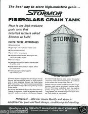 Farm Structure Brochure - Stormor - Fibreglass Grain Tank - c1964 (F4169)
