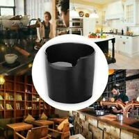 Coffee Knock Box Grinds Waste Tamper Black Bin Container ABS new X0F3