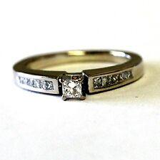 14k yellow gold .34ct VS G princess diamond engagement ring 3.4g estate vintage