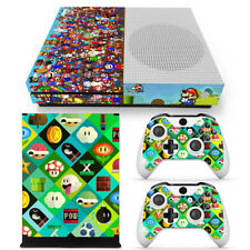 Xbox One S Super Mario Console & 2 Controllers Decal Vinyl Skin Art Wrap Sticker