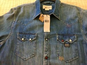 Ralph Lauren Denim Supply Indian Southwestern  Stud Western  Shirt Very RRL XL