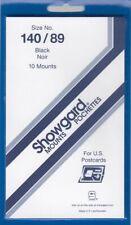 Showgard Stamp Mounts 140/89 mm For Postcards / Souvenir Sheets Black Pack Of 10