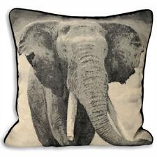 Riva Home Elephant Wildlife Piped Cushion Cover Black 45 X 45 Cm