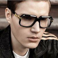 Square Aviator Designer Legends Fashion Mens Sunglasses Clear Lens Thick Frame