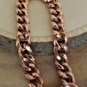 """Pure Copper Chain Bracelet - Solid Copper Healing Arthritis Pain 7.5"""" Bracelet"""