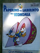 Paperino nel labirinto dell'economia fascicolo n.10  La finanza pubblica