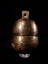 """Large Solid Bronze Elephant Bell 6"""" x 3 1/2"""" Brass Chime Unique Gong Cow Bell #E"""