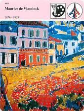 FICHE CARD Maurice de Vlaminck Peintre Fauvisme Restaurant Marly-le-Roi 90s