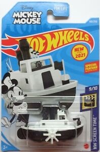 2021 Hot Wheels HW SCREEN TIME 9/10 Disney Steamboat 193/250 (Mickey Mouse)