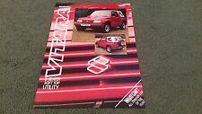July 1989 SUZUKI VITARA 2 SEAT SOFT TOP UTILITY - UK COLOUR LEAFLET BROCHURE