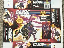 Hasbro GI Joe ARAH Cobra PInk Battle Copter w/ Heli-Viper Proof Sheet Prototype