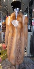 Lovely RED FOX FUR Stroller Superior Shade Youthful Warm A-line Coat Was $8995.