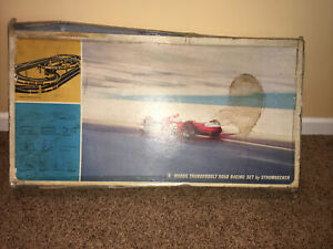 Vintage STROMBECKER Wards Thunderbalt Road Racing Set No 48-8153 With CARS