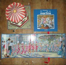 Très beau livre animée POP UP faisant boite à musique LE MANEGE DE MARTINE
