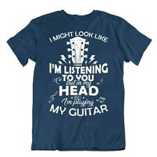 I'm Playing My Guitar Tshirt Music And Art T-Shirt Funny Idea Gift Birtday cute