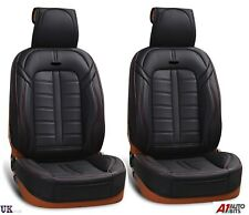 Deluxe PU Black Leather Front Seat Covers Padded For Nissan Navara Qashqai Juke