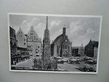 Postal nuremberg Adolf-Hitler-Plaza Bonita-pozo mujeres iglesia 1936