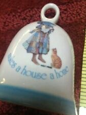 Holly Hobby Bell with cat A Happy Family makes a house a home collectible