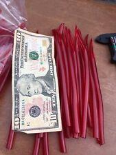 "81pc Lot 5/16"" Surge Tube Dark Red Trolling Lure Surgical Tubing #8Dr 1lb Bulk"