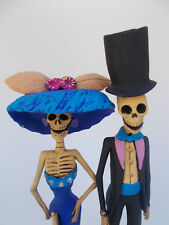 2 CATRINA SET, sexy couple lot, 100% handmade, mexican day of the dead 10""