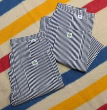 NEW Post Overalls USA Hickory Striped Conductor Engineer Heavy Work Pants L