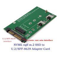 U.2/SFF-8639 NVMe PCI-E SSD to M.2 NGFF M Key SSD Converter Adapter Card Module