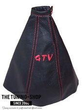 Si adatta ALFA ROMEO GTV 1995-1998 LEVA DEL CAMBIO GHETTA IN PELLE CUCITURE ROSSE RICAMO