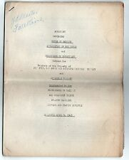 1943 NEW YORK NEW HAVEN HARTFORD Railroad Agreement UNION Brotherhood Railway