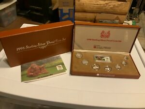 Singapore 1998 Sterling Silver Proof Coin Set Cert & Box (C6606)