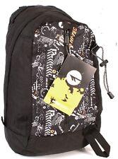Hi-Tec GAO Black with Orange Print detail  Backpack  BACK TO SCHOOL