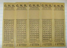 CNR CANADIAN NATIONAL RAILWAY LOT OF 5 TRAIN TICKETS UNUSED 1960 WHITE
