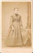 Fahrenhorst CDV photo Feine Dame - Wesel 1870er