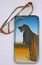 AFGHAN HOUND DOG GLASS CASE POUCH  SANDRA COEN ARTIST WATERCOLOUR ARTIST PRINT