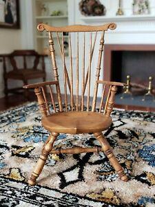 HTF RARE Dollhouse Miniature Artisan BIRKEMEIER Studio B Chair Signed #1 1:12