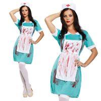 Erwachsene Blutige Krankenschwester Zombie Halloween Party Kostüm UK 10-14 V00