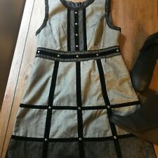 Anna Sui for Target Gray and Black Dress Juniors sz 13