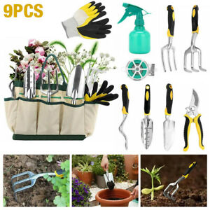 10pcs Gardening Tools Set Gift Garden Hand Tool Kit DIY Non Slip Ergonomic