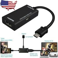 1080P MHL Micro USB 2.0 to HDMI HDTV Cable Adapter for Android Phone Tablet TV