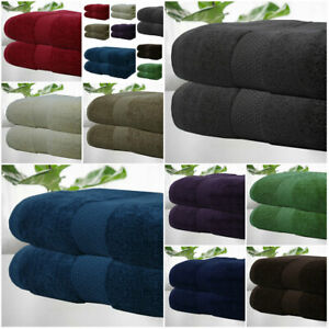 2 Pk Jumbo Bath Sheets Combed Towels Extra Large Size 90x180 cm 650 & 550 Gsm !!